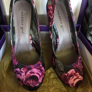 Steve Madden floral heels
